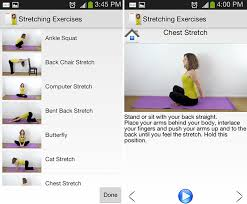 android workout apps stretching exercises