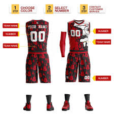 Logo Design Basketball Jersey Men Youth Custom Basketball Jersey Basketball Uniforms Basketball Sets Plus Size Red Can Printing Logo Name Number