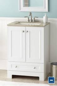 Attractive 25 Inch Vanity Style Selections Emberlin White Integral