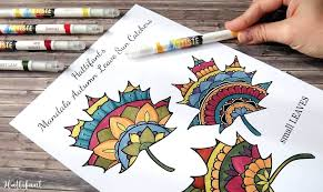 Thanksgiving Mandala Coloring Pages Thanksgiving Mandala Autumn Leaf