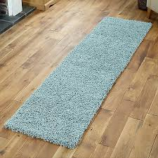 modern duck egg blue 60x230cm runner rug for hallway room soft quality rugs 5055747000528