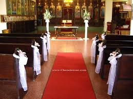 Of Wedding Decorations In Church Pink Flower And Greenery Wedding Arches Simple Church Wedding