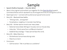 Speech Outline Format Example Of Extemporaneous Speech Outline Writing A