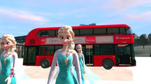 disney frozen elsa wheels on the bus nursery rhymes a superhero