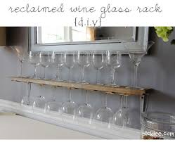 reclaimed wine glass rack diy