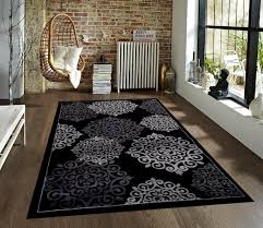 stylish com 776 black gray grey 5 2 7 2 area rugs carpet kitchen regarding at home