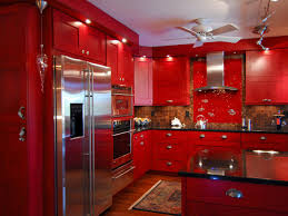 kitchen color ideas red. Stylish Red Painted Kitchen Cabinets Color Ideas D