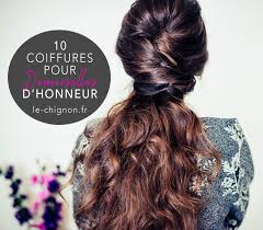10 Coiffures Pour Demoiselles Dhonneur Le Chignon