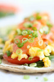 Egg and smoked salmon open faced breakfast sandwich recipe. Easy Smoked Salmon Breakfast Wrap Two Healthy Kitchens