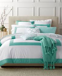 charter club damask designs colorblocked teal full queen duvet set created for macy s duvet covers bed bath macy s
