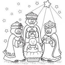 Drie Wijzen Kleurplaat Kerst Christmas Coloring Pages