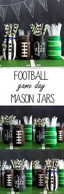Crafts With Mason Jars Football Party Mason Jars Mason Jar Crafts