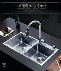 stainless steel hand sink double trough stainless steel hand sink set kitchen wash dishes basin double stainless steel hand sink