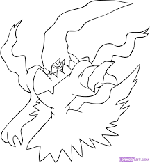 Legendary Bird Pokemon Coloring Pages