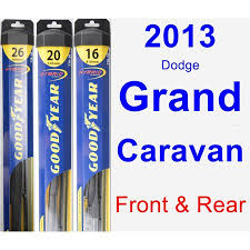 2013 Dodge Grand Caravan Wiper Blade Set Kit Front Rear 3 Blades Hybrid