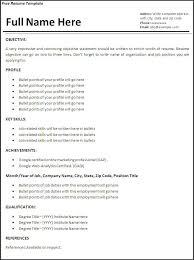 Resume Templates For Download Job Resume Template Download