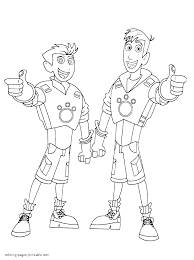 Small Picture Wild Kratts Coloring Pages And Kratt Brothers Best Of Printable