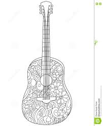 al instrument guitar coloring book vector for s
