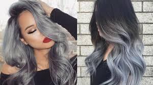 2018 most por hair color trend gray hair