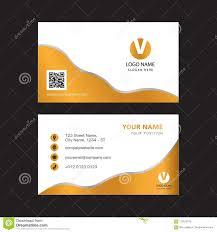 Creative Gold Color Business Card Design Stock Vector Illustration