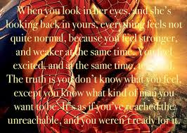 Spiderman Love Quotes Impressive Amazing Quote From SpiderMan It's So Romantic And Inspiring How