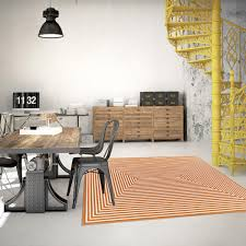 vitaminic braid orange geometric rug by floorita 1