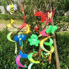 lawn wind spinners colorful flower garden windmill children