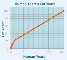 I Am 63 Years Old How Old Am I In Cat Years Cat Age