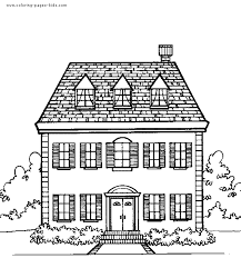 Printable drawings and coloring pages. House Color Page Family People Jobs Coloring Pages Color Plate Coloring Sheet Printable Ho House Colouring Pages Coloring Pages For Kids Free Coloring Pages