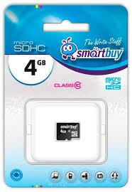 <b>Карта памяти 4GB</b> SmartBuy SB4GBSDCL10-00 купить в Москве ...