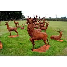 balfour glen stag cast iron garden statue