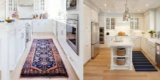 best kitchen rugs collage of kitchen runners in a galley kitchen and one next to an