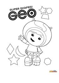 Kleurplaat Team Umizoomi Geo Coloring Pages Niños Fondos Para
