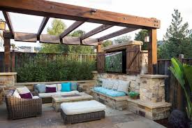 mediterranean outdoor furniture. Outdoor Furniture Springfield Patio Mediterranean With Stacked Stone Low Wall San Francisco Environmental Restoration Services A