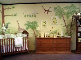 green baby furniture. Safari Baby Rooms : Traditional Room Decoration With Brown Wooden Crib And Cozy Bedding Complete Green Furniture