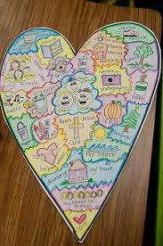 best daily five images reading school and  heart map kids make a heart of things they love and refer to it during