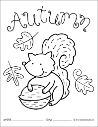 Small Picture autumn squirrel coloring page Party and Lesson Planning