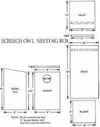 owl nesting owl box bird house plans
