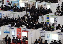 sony loses science talent as student resumes go to dairies the new directions university students take part in the mynavi job expo a job fair