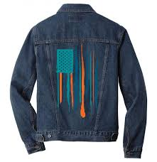 miami dolphins men denim jacket