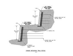 tiered retaining wall detail