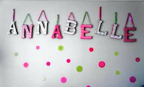 baby name letters for nursery wooden painted ideas with polka dots wall
