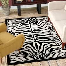 zebra area rug. Kaly Zebra Print Ebony Area Rug