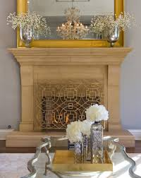 traditional with geometric fireplace screen gold image by asd interiors shirry dolgin owner