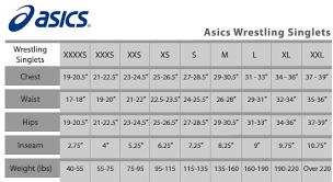 Asics Wrestling Singlet Sizing