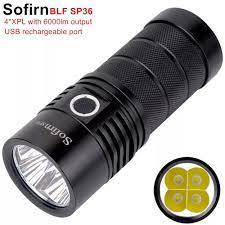 Đèn Pin LED Sofirn BLF SP36 4XPL2 6000LM, Công Suất Lớn, Sạc USB 18650,  Nhiều Chế Độ Hoạt Động, Siêu Sáng, Narsilm V1.2 giá rẻ 880.000₫