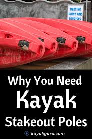 why you need kayak stakeout poles in your life image