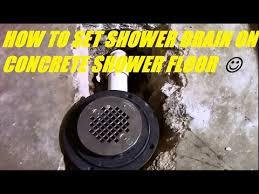 shower drain on concrete slab you