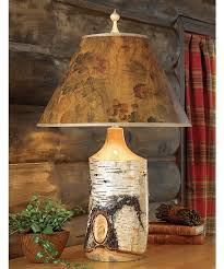 rustic lighting for cabins. rustic lighting birch table lamp for cabins