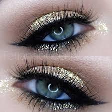 description gold glitter eye makeup